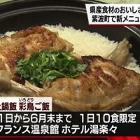 岩手県の新品種米「銀河のしずく」と岩手県産「菜彩鶏」の土鍋ご飯「彩鳥ご飯(いろどりごはん)」です。