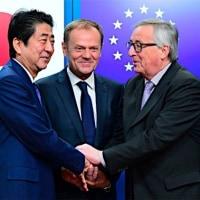 日欧 自由貿易で結束