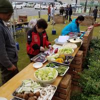防災広場で炊き出し訓練 (´ω`)