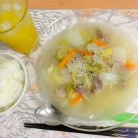 ポトフ風スープであったまる〜。