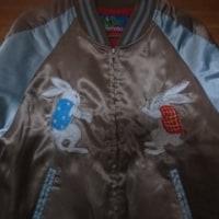 うさぎ刺繍のスカジャン