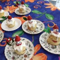 サンタさんのキャンドルケーキ