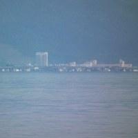 琵琶湖に出現した小規模上位蜃気楼(2017.5.21)