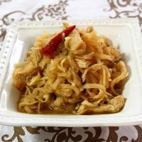 あんかけ焼きそば&牡蠣の天ぷら
