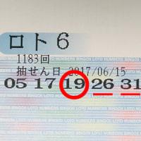 ロト6第1183回の予測数字と抽選結果