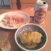久しぶりの自宅で夕食