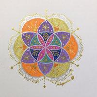 2日間の神聖幾何学HaRe・Art初級クラスが楽しく終了致しました❤
