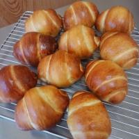 夫とパン作り