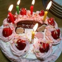 ♪ 3日早めたパパさんのお誕生日は、 ママさんとゆきの合作で、 美味・満足!