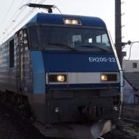 2017年4月25日,今朝の中央線,81レ EH200-22