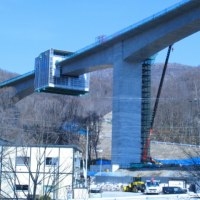 北海道横断自動車道 小樽JCT(ジャンクション)視察
