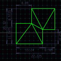 矩形の面積を求める