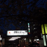 桜新町駅前で(1)