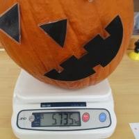 ハロウィンのかぼちゃ重さクイズ☆