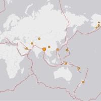 考察   インドで、M6.7の地震があったようです