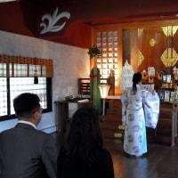 新橋浅間神社にて御祈祷