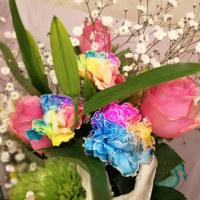 レインボーなお花☆。。。