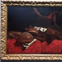 国立西洋美術館のバスケニス《楽器のある静物》
