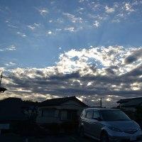12月11日、午前7時過ぎの空模様