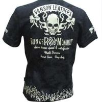 vanson バンソン Tシャツ  サーマル スカル プリント 半袖 NVST-710