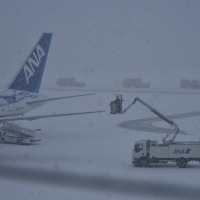 大荒れの空港