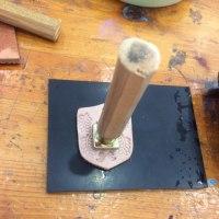 革のキーホルダー作り