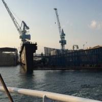 造船工場。