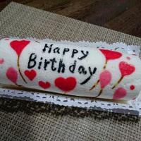 息子の誕生日ケーキ試作・・・可愛いロールケーキ