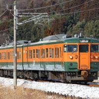 2017.2.12 吾妻カッター、吾妻線115系、185系草津