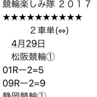 4/29 松阪、静岡競輪