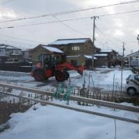 昨日の続きの除雪作業
