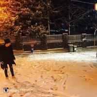 kyung777さんinstagram 雪合戦(^○^)