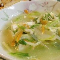豆腐の野菜あんかけは寒い夜の食卓にピッタリだ