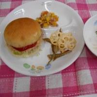 【お誕生日会メニュー】ハンバーガー