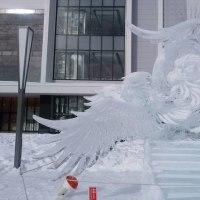 旭川氷の彫刻。。。幻想の世界に。