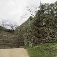 洲本城跡の石垣を視る「本丸への大石段」