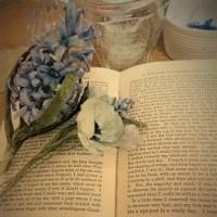 布花 青い花