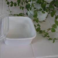 白い琺瑯で冷蔵庫整理を・・・