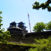 熊本城天守閣の復旧工事
