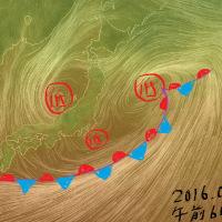 西日本は梅雨晴れ