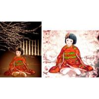 絵画販売・ポストカード「市松人形」 「蝋梅と市松人形」
