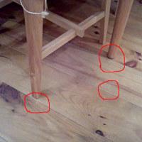 無垢フローリングは椅子で傷つかないのか?