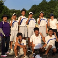 7/22中体連岐阜地区大会団体戦(3位)