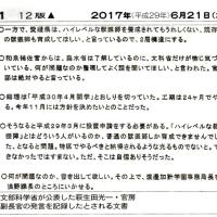 6/21 朝日 加計 「萩生田氏発言」