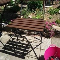 庭のテーブルセットのイスをDIYするの巻