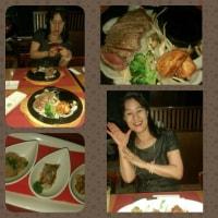 幸慶美智子マンツーマンレッスン上級 ステーキディナーを楽しみました!