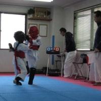 孫の空手の練習試合を見に行きました