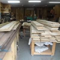 タモ・ウォールナット・バスウッド 材木 到着