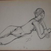 クロッキー(4)(B3)チャコール鉛筆