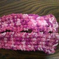 手編みマフラー完成
